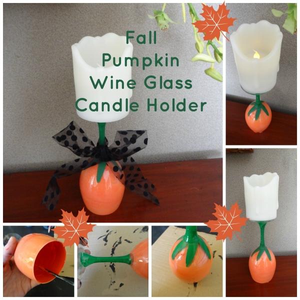 Fall Pumpkin Candle Holder