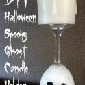 Ghost Candle Holder: Halloween Decoration Idea