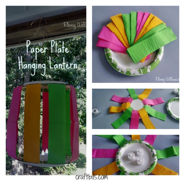 Hanging Lantern made with paper plates