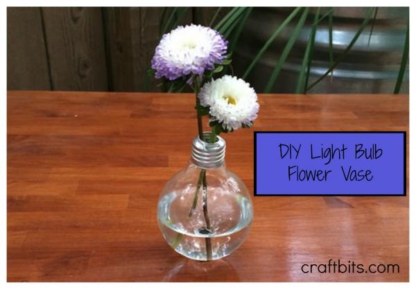 DIY Light Bulb Flower Vase