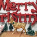 Glittered Christmas Deer Decor