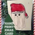 Hand Print Santa Card