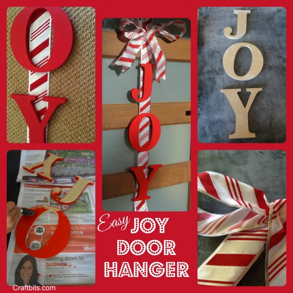 DIY Christmas Door Art – JOY