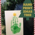 Hand Print - Christmas Tree Card