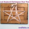 Wood Stained Christmas Star Panel