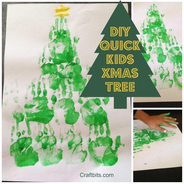 Hand Print – Christmas Tree Artwork