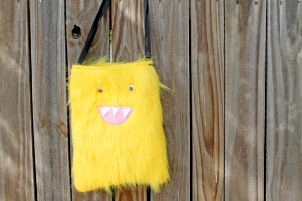 Sew your own furry Monster Bag