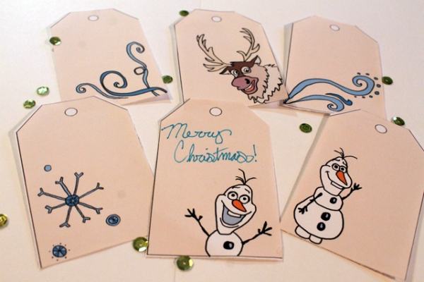 Printable Frozen Christmas Gift Tags