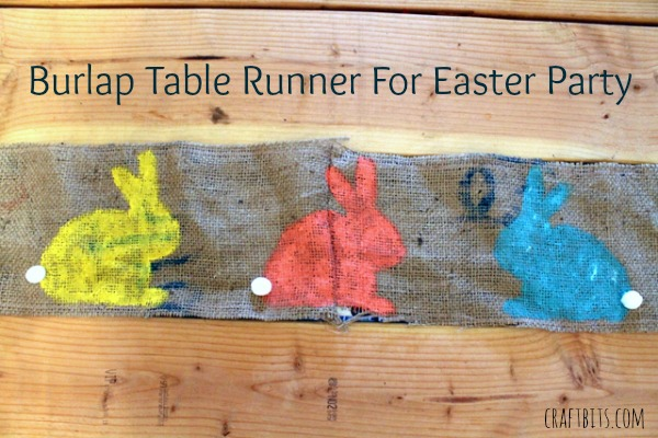 Easter Bunny Burlap Table Runner