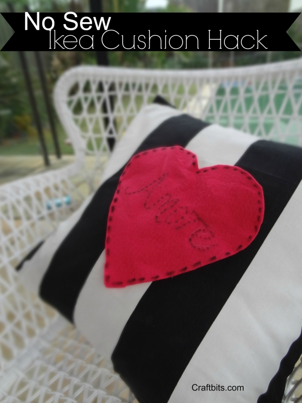 Valentine's Day No-SEW IKEA Hack Amore Cushion