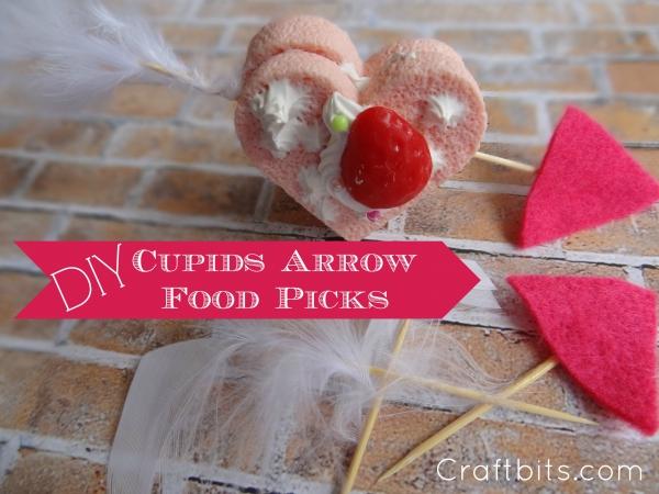 Valentine's Day Cupids Arrow Food Picks