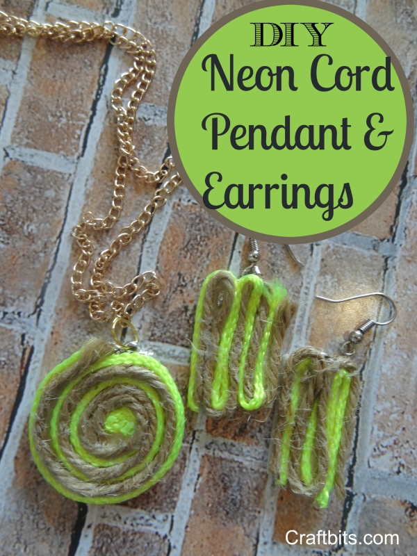How to Make a Neon Cord Twine Necklace