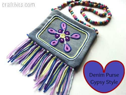 DIY Denim Gypsy Purse