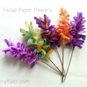 How To Make Tissue Paper Hyacinth Flowers