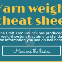 Yarn Weight Cheat Sheet and Guidelines