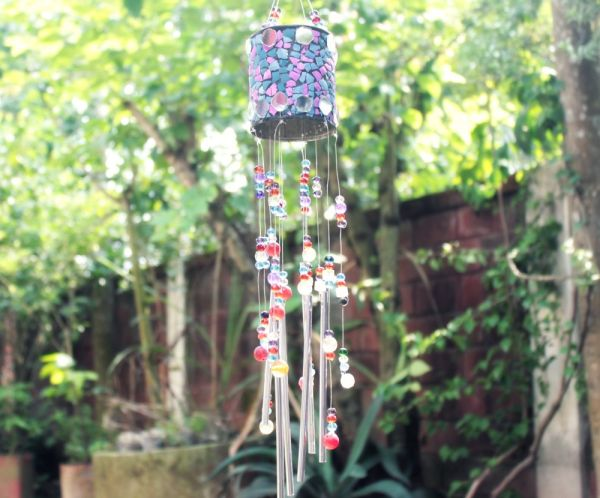 Wind Chime Made With A Can And Egg-Shells