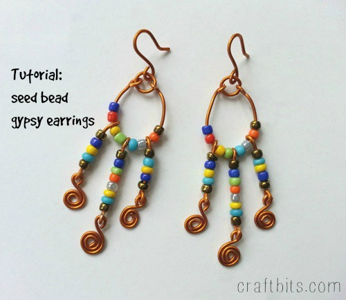 DIY Colorful Seed Bead Gypsy Earrings