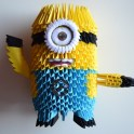 How to Make 3D Origami Minion