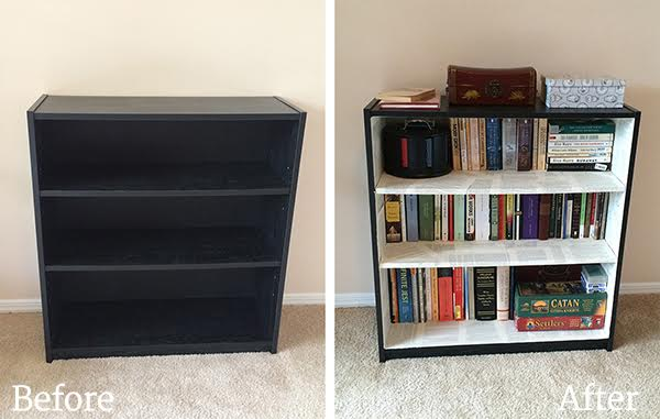 DIY Collage of Pages Bookcase