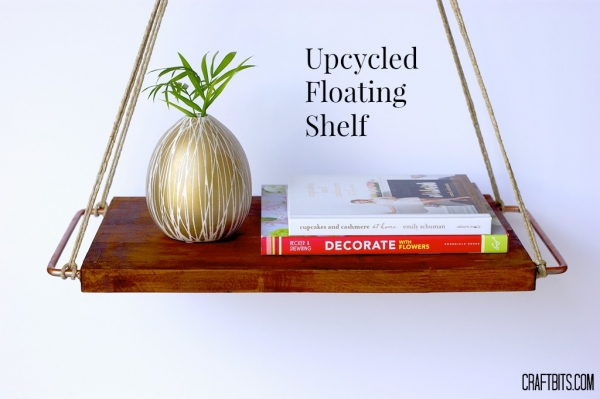 Upcycled Floating Shelf