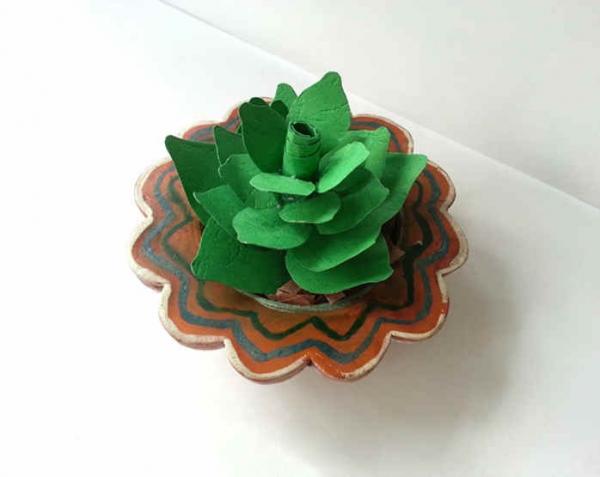 Paper Origami: Make A Succulent Plant