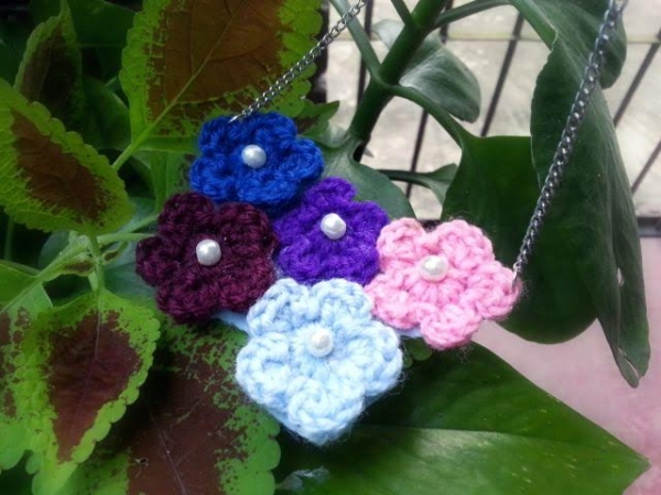 how to make crochet necklace