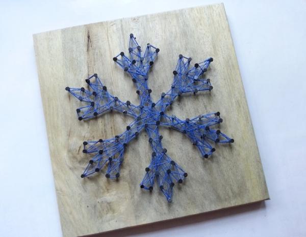 Make A Snowflake String Art