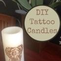 Embellished Tattoo Candles