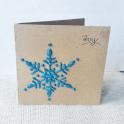 Glittery Snowflake Christmas Card
