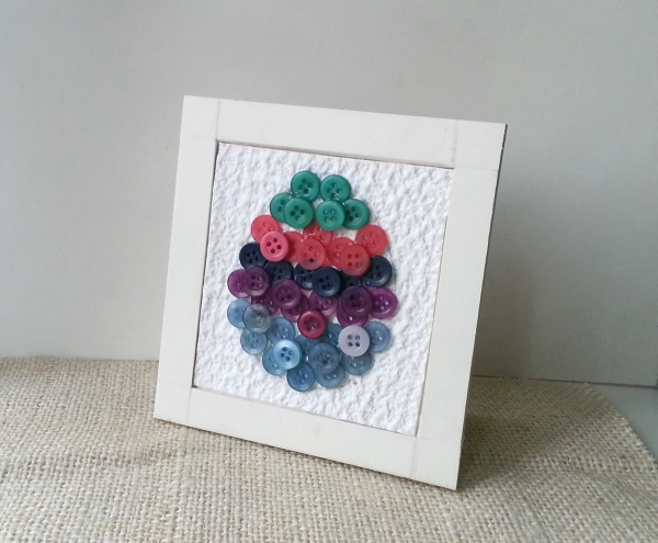 Buttons and Eggs: An Easter Art Project to Frame!
