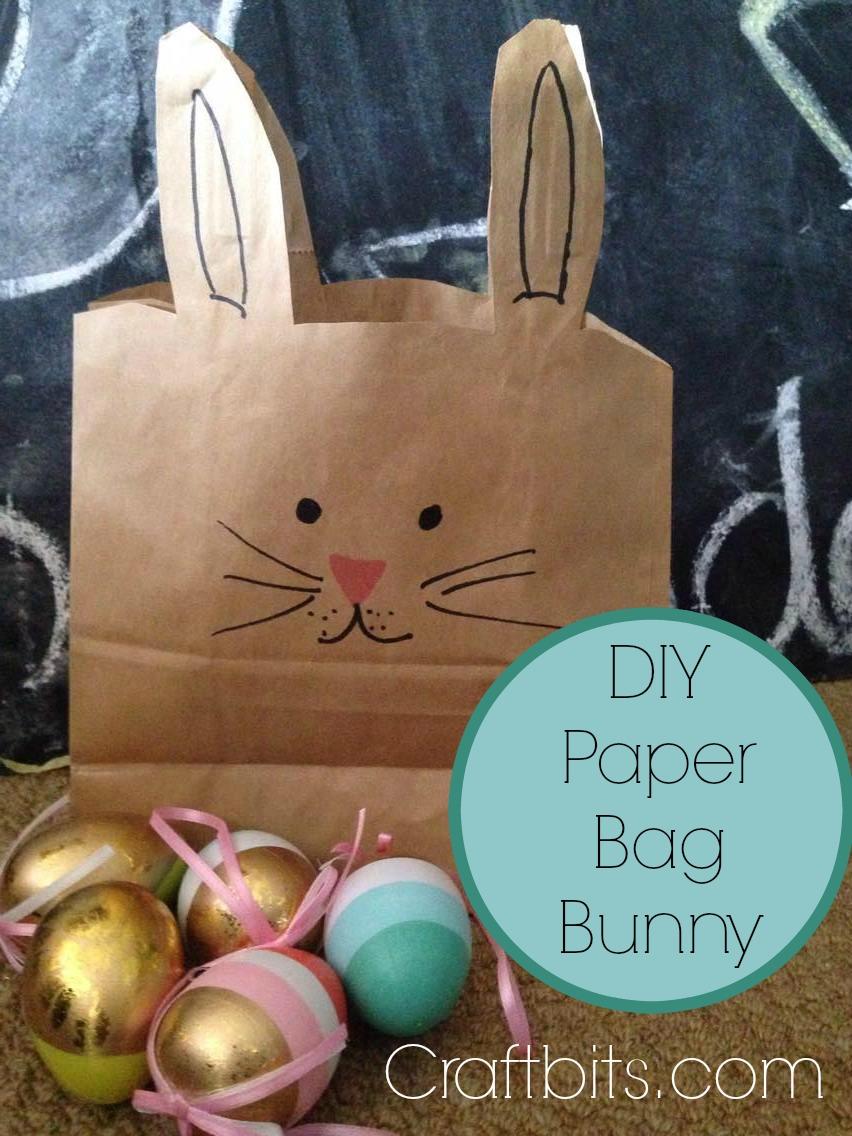 Paper Bag Easter Bunny