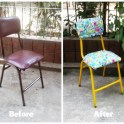 Give new life to old furniture. See how easy this was!