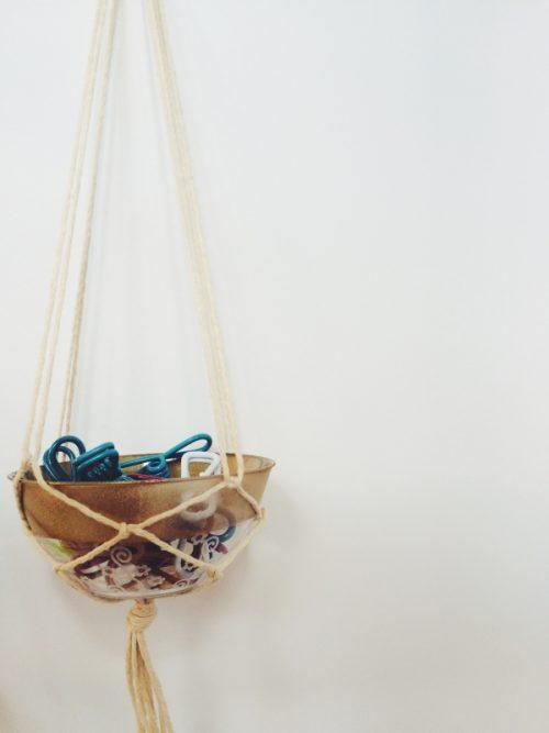 Hanging Gold Rimmed Bowls
