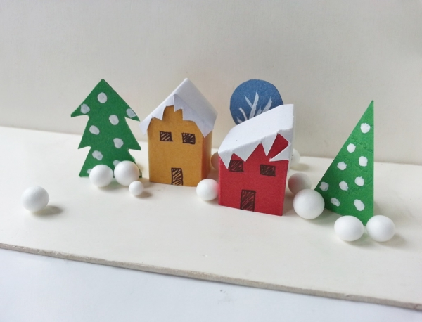 Create a Paper Christmas Town