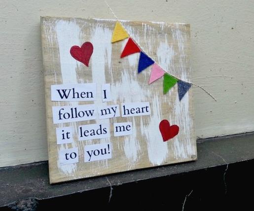 DIY Love Quote Decor