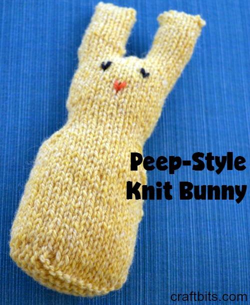Peep-Style Knit Bunny