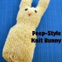 Peep style knit bunny knitting pattern
