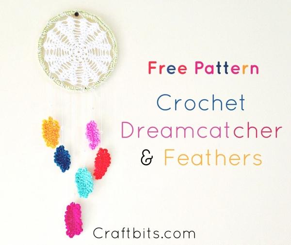 Crochet Feather Dreamcatcher Pattern