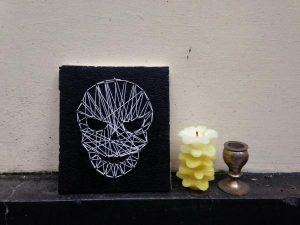 DIY Halloween Skull String Art