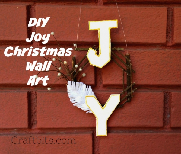 Christmas Wreath JOY ? Made From Twigs