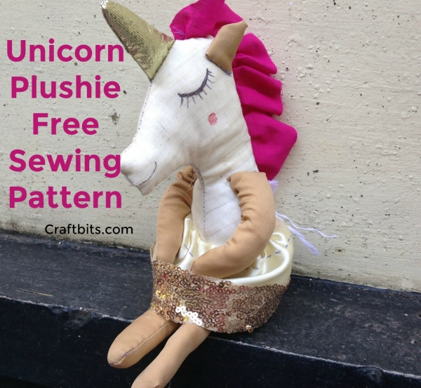 Leftover Fabric Unicorn Toy Sewing Pattern