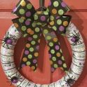 Halloween Wreath - Ribbon & Spiders