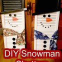 DIY Christmas Snowman Shutters