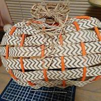 Dollar Tree Pumpkin Frame Ribbon Wreath