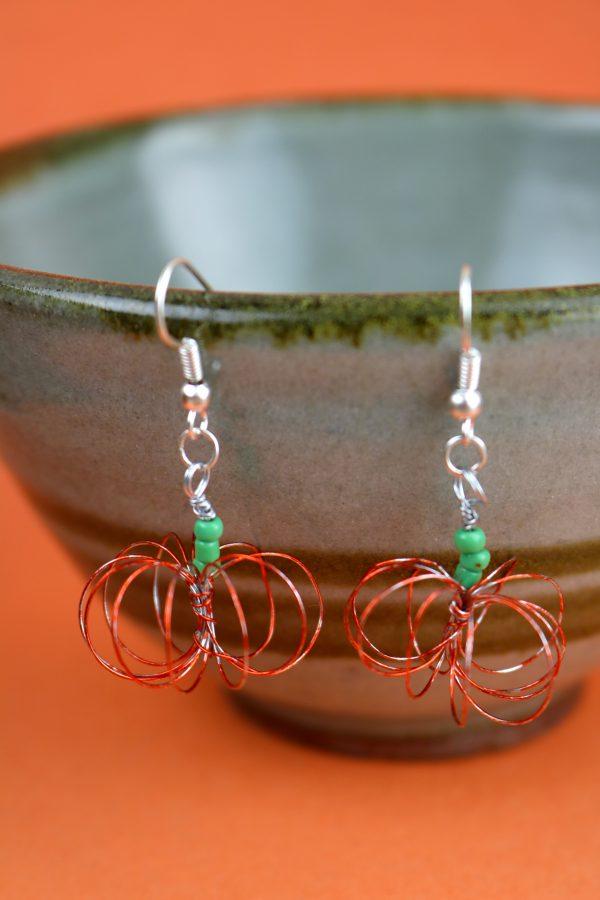 Jewelry Making – Pumpkin Wire Earrings