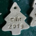 Clay Tree Ornaments