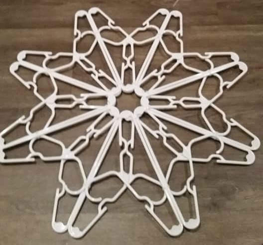Coat Hanger Christmas Snowflake