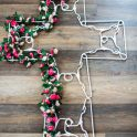 Coat Hanger Easter Religious Cross Wreath