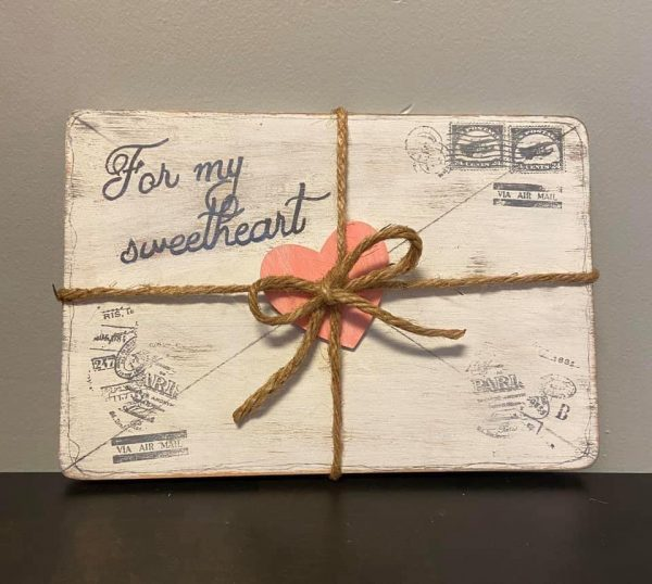 Dollar Tree – Wooden Valentine's Love Letter Plaque