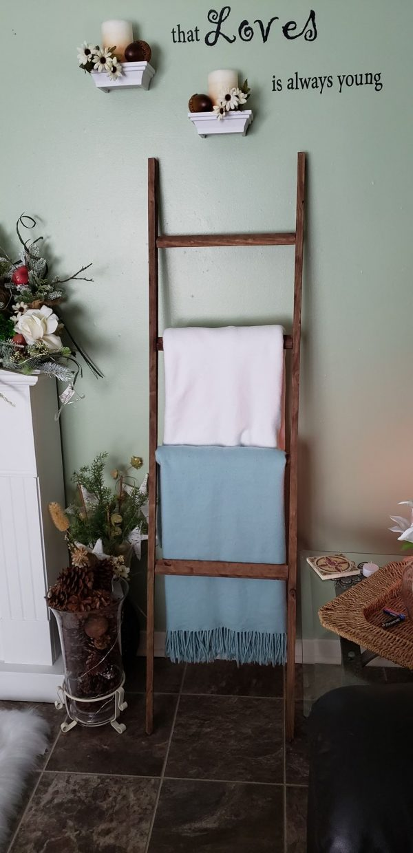 DIY Rustic Farmhouse Ladder